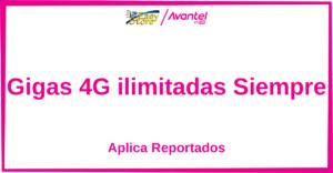 Planes Avantel Internet Ilimitado 4G